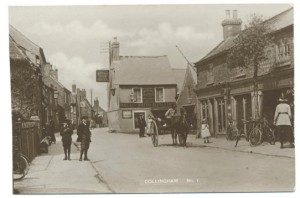 Royal Oak Hotel and the High Street, Collingham